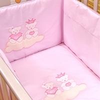 Εικόνα της Nek Baby Σετ 6τμχ. προίκα κρεβατιού ΠΙΝΚ ΠΡΙΝΣΕΣ