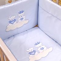 Εικόνα της Nek Baby Σετ 6τμχ. προίκα κρεβατιού Μπλου Πρινς