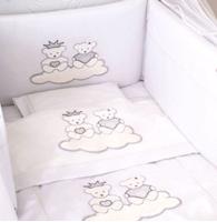 Εικόνα της Nek Baby Σετ 6τμχ. προίκα κρεβατιού Σίλβερ Πρινς
