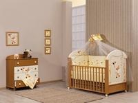 Εικόνα της Nek Baby Σετ 6τμχ. προίκα κρεβατιού Baby Zebra - Πορτοκαλί