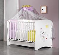 Εικόνα της Nek Baby Σετ 3τμχ. προίκα κρεβατιού Tommy Λιλά