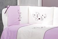 Εικόνα της Nek Baby Σετ 3τμχ. προίκα κρεβατιού Les Amies Λιλά