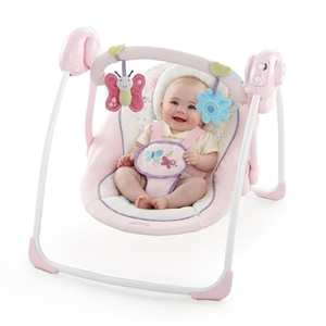 Εικόνα της Bright Starts Ρηλάξ Portable Swing in Penelope Petals™