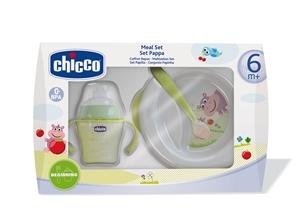 Εικόνα της Chicco Σετ Φαγητού 6m+, (Πιάτο, Ποτήρι, Κουτάλι)