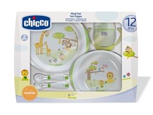 Εικόνα της Chicco Σετ Φαγητού 12m+, (Πιάτα, Ποτήρι, κουτάλια)