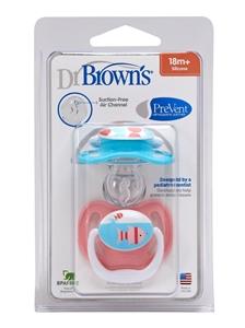 Εικόνα της Dr. Brown's PreVent Ορθοδοντική Πιπίλα Σιλικόνης για μωρά 12+ Μηνών