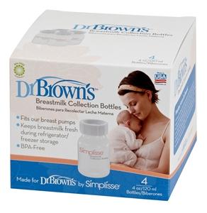 Εικόνα της Dr. Brown's Μπουκάλια Στενά Συλλογής Μητρικού Γάλακτος (4 τεμ.)