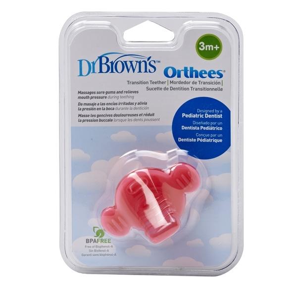 Picture of Dr. Brown's Πιπίλα Οδοντοφυΐας – Orthees, Ροζ