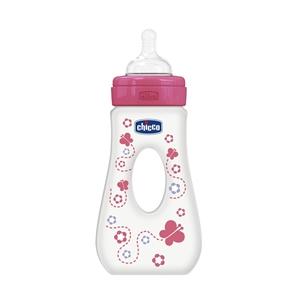 Εικόνα της Chicco Μπιμπερό Wellbeing με λαβή 0% BPA 240ml, Ροζ
