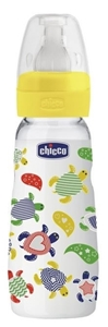 Picture of Chicco Γυάλινα Μπιμπερό Simply Glass 240ml, Κίτρινο