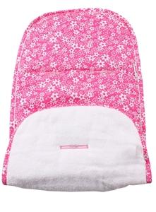 Εικόνα της Minene Κάλυμμα Φούξια Λουλούδια / Λευκή Πετσέτα
