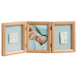 Εικόνα της Baby Art My Baby Touch Wooden Double Frame - Honey