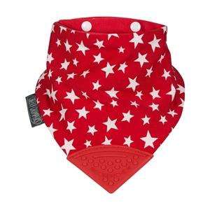 Εικόνα της Cheeky Chompers Σαλιάρα και Μασητικό Κόκκινο με Αστέρια