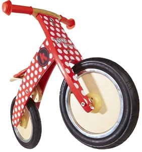 Picture of KiddiMoto Ποδήλατο Ισορροπίας Curve, Red Dotty