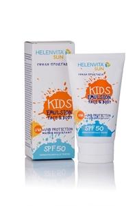 Εικόνα της HelenVita Αντηλιακό Γαλάκτωμα Sun Kids Emulsion SPF 50 Face & Body, 150ml.