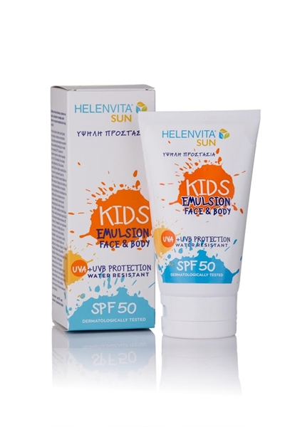 Picture of HelenVita Αντηλιακό Γαλάκτωμα Sun Kids Emulsion SPF 50 Face & Body, 150ml.
