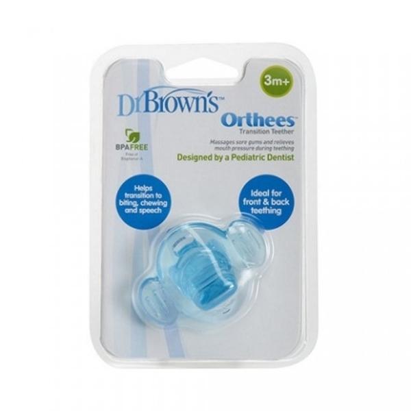 Picture of Dr. Brown's Πιπίλα Οδοντοφυΐας – Orthees, Μπλε