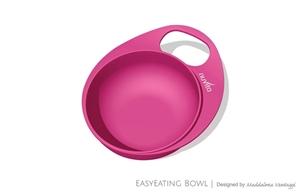 Εικόνα της Nuvita Μπολ με Λαβη, EasyEating Bowl Ροζ