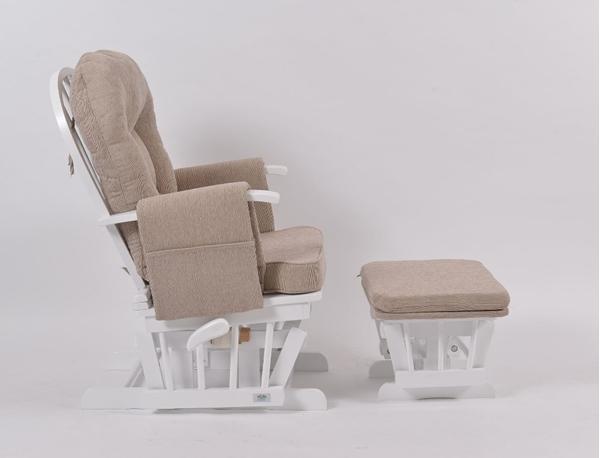 Picture of KidsCom Πολυθρόνα Θηλασμού Wooden Glider White-Brown