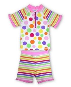 Εικόνα της Jakabel Σετ μπλούζα-σορτς με προστασία UVP50+ Pink Dots