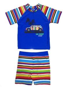 Εικόνα της Jakabel Σετ μπλούζα-σορτς με προστασία UVP 50+ Blue Multi Stripe