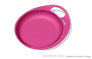 Εικόνα της Nuvita Πιάτο με Λαβή Ροζ