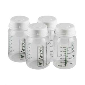 Εικόνα της Ameda Μπουκαλάκια Αποθήκευσης Μητρικού Γάλακτος 120 ml (4 τεμ.)