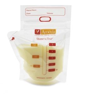 Εικόνα της Ameda Σακουλάκια Αποθήκευσης Μητρικού Γάλακτος 20 Τεμ και Συνδετικό 2 Τεμ