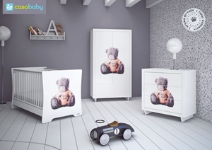Εικόνα της CasaBaby Παιδικό Κρεβάτι Teddy High Gloss