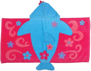Εικόνα της Παιδική πετσέτα με κουκούλα Δελφίνι