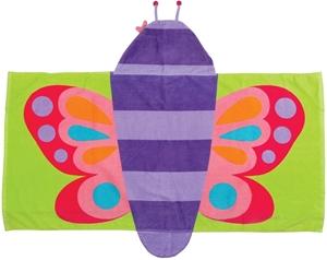 Εικόνα της Παιδική πετσέτα με κουκούλα Πεταλούδα