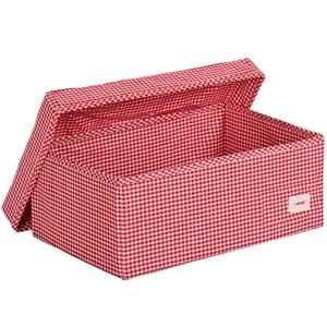 Minene Μεγάλο Κουτί Αποθήκευσης με Καπάκι Κόκκινο Καρώ