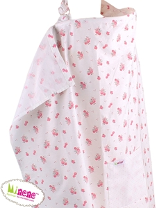 Minene Κάλυμμα Θηλασμού Ροζ Φλωράλ