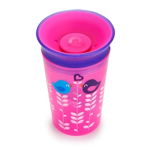 Munchkin Κύπελο Miracle 360° Deco Sippy Cup Pink Bird 266ml.