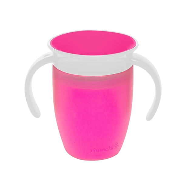 Munchkin Κύπελο Miracle 360° Trainer Cup Pink/White 207ml.