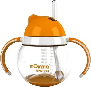 Momma Κύπελλο με Καλαμάκι Πορτοκαλί 250ml.