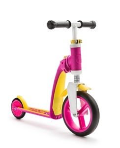 Scoot And Ride Ποδήλατο Ισορροπίας & Πατίνι 2 Σε 1 HighwayBaby Pink/Yellow