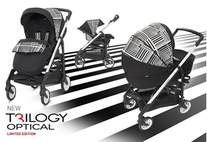 Inglesina Καρότσι Trilogy System, Limited Edition, Optical Black