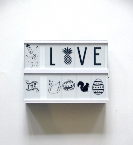 Picture of Lightbox A5: White + Letterset ABC Black
