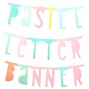 Picture of Letter banner: Pastel