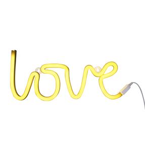 Εικόνα της Νέον Φωτεινό Κρεμαστό Love Κίτρινο