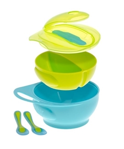 Picture of Brother Max Weaning Bowl Set – Σετ Μπωλ Απογαλακτισμού Σιέλ