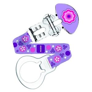 Εικόνα της MAM Clip & Cover Κορδέλα στήριξης πιπιλάς & καπάκι Χρώμα Purple