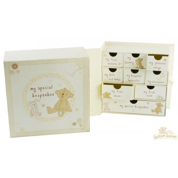 Picture of Bambino Κουτί Αναμνήσεων Button Keepsake Box