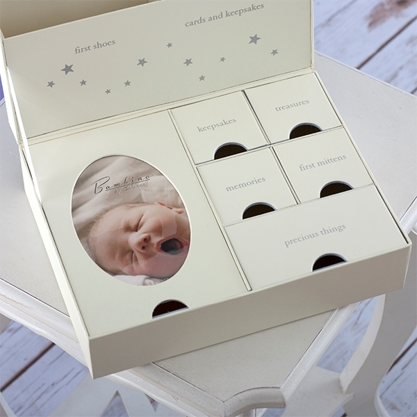 Picture of Bambino Κουτί Αναμνήσεων Keepsake Box with Drawers