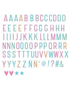 Picture of Σετ γράμματα & σύμβολα για το Lightbox, Pastel