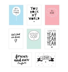Εικόνα της  Poster lightbox sheets: Love
