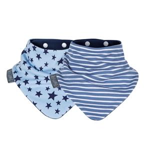 Εικόνα της Cheeky Chompers Σαλιάρια Μπαντάνα Blue Stars & Stripes, 2 τεμ.