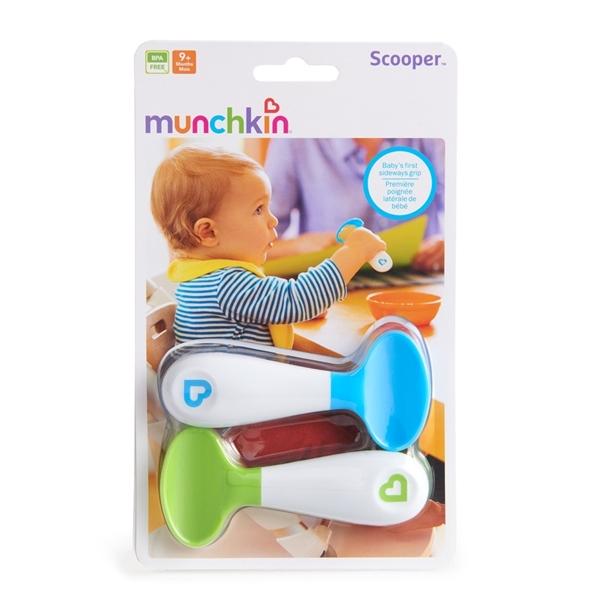 Picture of Munchkin Σετ με 2 κουτάλια Scooper Spoon Λαχανί - Σιέλ