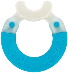 Εικόνα της MAM Bite & Brush, για Καθαρισμό Δοντιών, Σιέλ, 3+ Μηνών